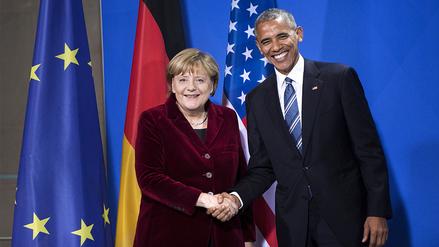 Obama y Merkel confían en que Donald Trump continúe cooperación con Europa