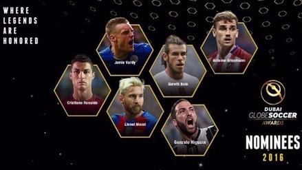 Cristiano Ronaldo y Lionel Messi entre los nominados al Globbe Soccer 2016