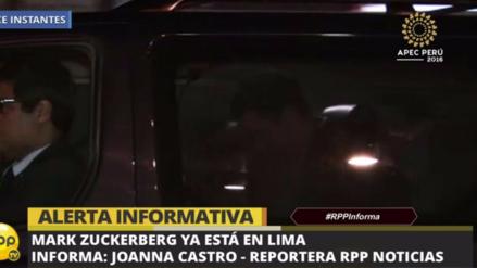 Mark Zuckerberg ya está en Lima para la Cumbre APEC