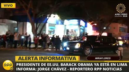 Así fue el impresionante traslado de Barack Obama a Miraflores