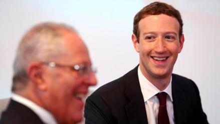 """Mark Zuckerberg dice en Facebook que ha tenido """"un gran día en Perú"""""""