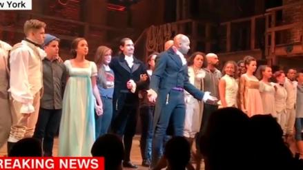 Donald Trump exige a actores de Broadway que se disculpen con su vicepresidente