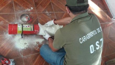Arrestan en Chile a un peruano que llevaba droga oculta en un extintor