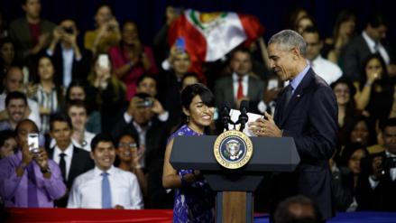 Cyntia Paytan, la joven peruana que le dio la bienvenida a Barack Obama