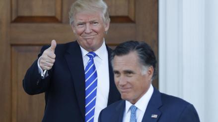 Mitt Romney podría ser el próximo secretario de Estado de Donald Trump