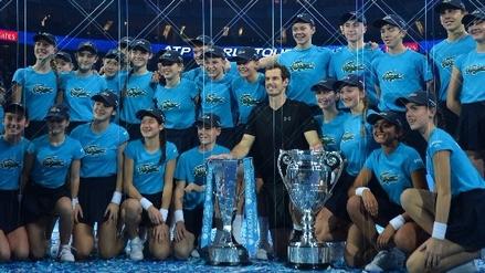 Andy Murray ganó el Masters de Londres y cerró la temporada como número uno del mundo
