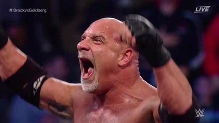 Por Survivor Series y en menos de 2 minutos: Goldberg venció a Brock Lesnar