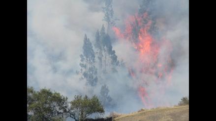 Pallasca: aún no se puede controlar incendio forestal en tres distritos