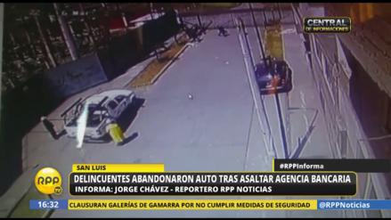 Delincuentes asaltaron una sucursal del Banco de Crédito en San Luis