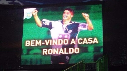 Cristiano Ronaldo recibió un homenaje en su vuelta al José Alvalade