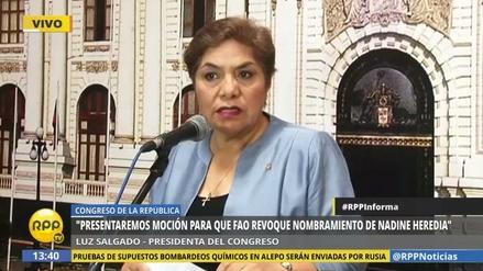 Congreso evaluará pedir a la FAO que revoque el nombramiento de Heredia