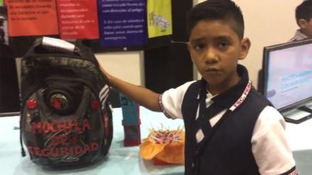 Twitter: niño crea una mochila antibalas para protegerse de la violencia en México