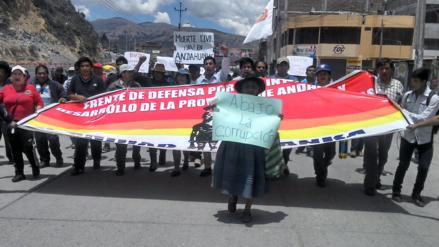 Frente de Defensa de Andahuaylas inicia paro indefinido contra la corrupción