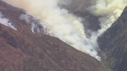 Áncash: continúa incendio forestal en Macate