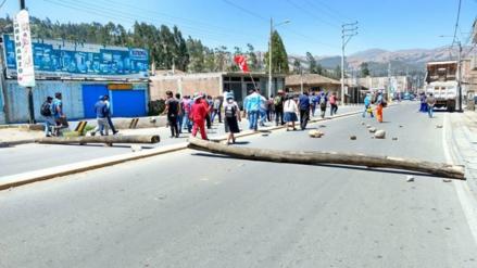 Vías bloqueadas en segundo día de paro en Andahuaylas