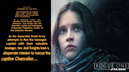 Rogue One no tendría el tradicional intro que caracteriza a Star Wars