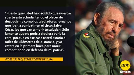 11 Frases Que Marcaron La Vida Política De Fidel Castro