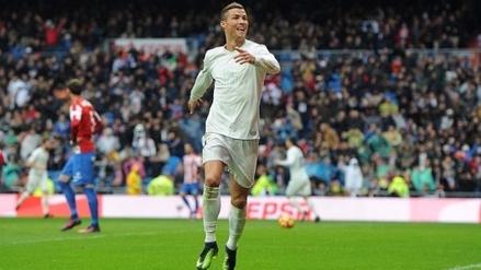 Cristiano Ronaldo anotó un doblete y es goleador de la liga española