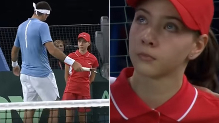 Del Potro tuvo noble gesto con recogebolas en la final de la Copa Davis