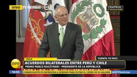 """Pedro Pablo Kuczynski: """"Perú y Chile somos dos países amigos"""""""