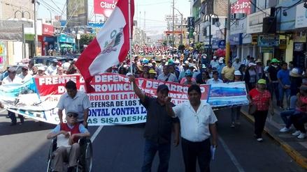 Chimbote: organizaciones marchan para exigir Chinecas con bocatoma única