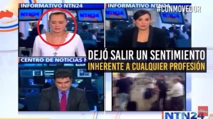 Presentadora se quiebra en vivo por accidente del Chapecoense