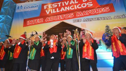 Huancayo: adultos mayores participaron en Festival de Villancicos