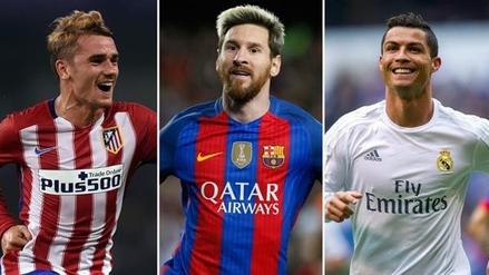 Lionel Messi, Cristiano Ronaldo y Antonie Griezmann son los finalistas al premio The Best