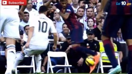 El día que Neymar intentó hacer una 'bicicleta' a James Rodríguez
