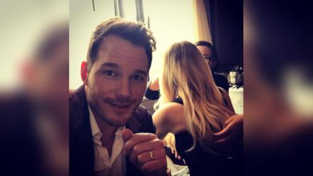 Chris Pratt 'recorta' a Jennifer Lawrence de sus selfies