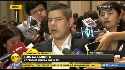 """Galarreta: """"Nieto pasó a Defensa porque nadie quería ocupar ese ministerio"""""""