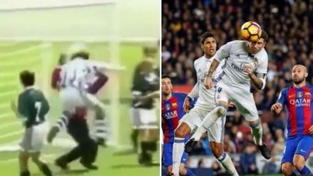 El golazo de cabeza de Sergio Ramos a los 12 años