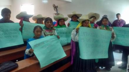 Pobladores de Kañaris exigen al Gobierno Regional culminar colegio