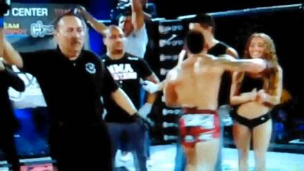Peleador de MMA golpeó a anfitriona luego de perder