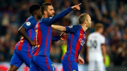 Con 'Hat-trick' de Arda Turan: Barcelona aplastó 4-0 al Borussia Mönchengladbach