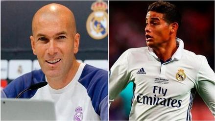 Zidane sobre la continuidad de James Rodríguez: