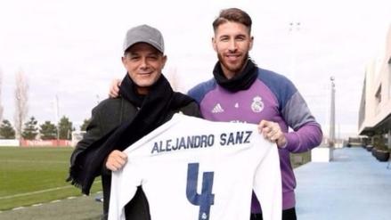 El nuevo central: Alejandro Sanz visitó al plantel del Real Madrid