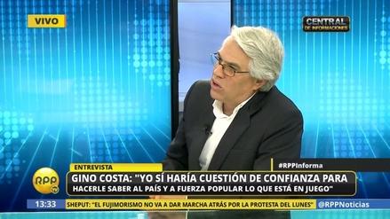 """Gino Costa: """"Yo sí haría cuestión de confianza si censuran a Saavedra"""""""