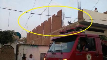 Pared del segundo piso cae sobre vivienda vecina y mata a madre de familia