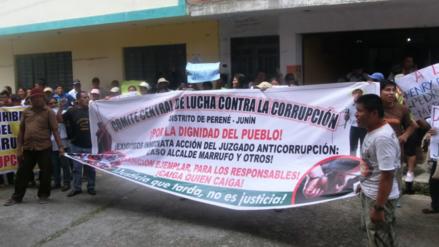 Chanchamayo: pobladores de Perené exigen prisión preventiva contra alcalde