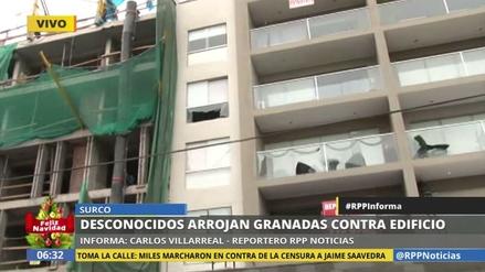 Arrojan granadas de guerra contra un edificio en Surco