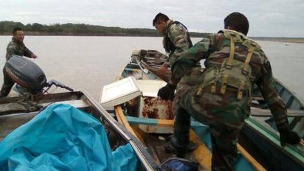 Loreto: policía interviene bote con droga en la frontera con Colombia