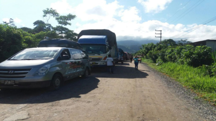 Por sexto día sigue bloqueada la carretera Belaunde Terry