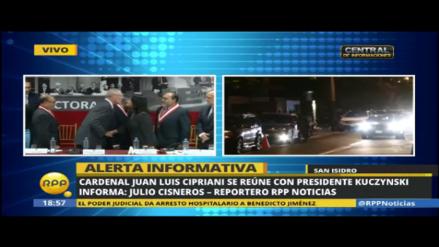 Cardenal Juan Luis Cipriani se reunió con el presidente Kuczynski