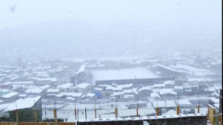 Región Pasco afectada por nevadas y fuertes lluvias en sus provincias