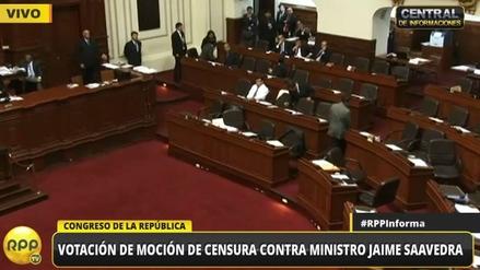 Cuatro bancadas se retiraron de la votación por la censura a Jaime Saavedra
