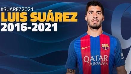 Barcelona anunció la renovación de Luis Suárez hasta el 2021