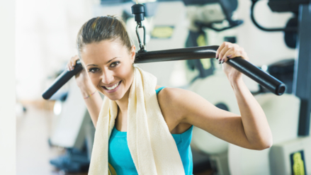La etiqueta fitness del gimnasio