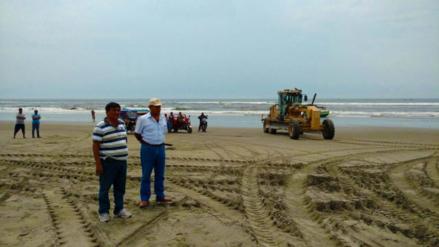 Continúa limpieza de las playas del litoral lambayecano