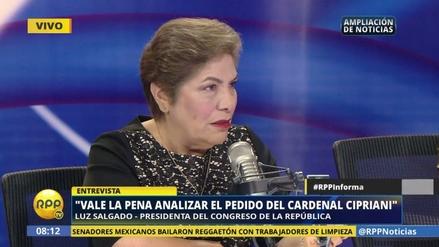 """Luz Salgado pide """"pasar la página"""" tras la censura a Saavedra"""